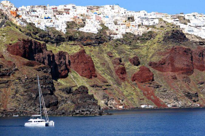 Santorini Catamaran Yacht Cruise