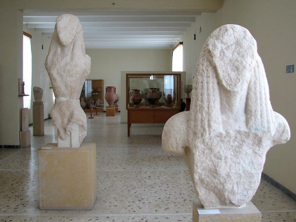 Kouroi. Santorini Prehistoric Museum Fira