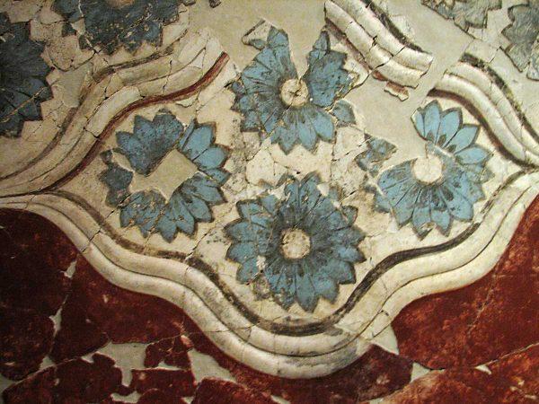 Minoan fresco. Santorini Prehistoric Museum Fira